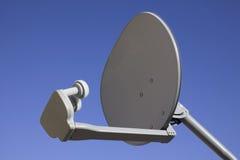 Plato basado en los satélites de la TV Imágenes de archivo libres de regalías