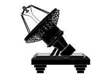 Plato basado en los satélites negro imagen de archivo