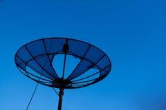 Plato basado en los satélites quebrado Foto de archivo