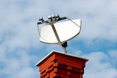 Plato basado en los satélites de la TV Fotografía de archivo libre de regalías