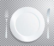 Plato blanco stock de ilustración