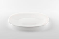 Plato blanco vacío Foto de archivo libre de regalías