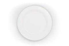 Plato blanco y limpio Foto de archivo