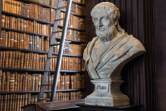 Plato bust in Trinity College Royalty Free Stock Images