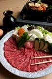 Plato caliente japonés del crisol. Imagen de archivo libre de regalías
