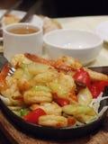 Plato chino del camarón de la comida Imagen de archivo libre de regalías