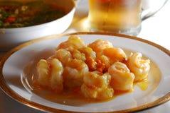 Plato chino del camarón Fotos de archivo