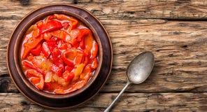 Plato clásico de Lecso de la cocina húngara foto de archivo