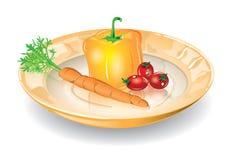 Plato con las verduras Fotos de archivo