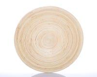 Plato de bambú circular Imagen de archivo libre de regalías