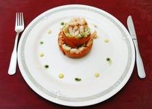 Plato de camarones Imagen de archivo