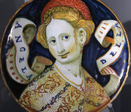 Plato de cerámica antiguo de la cerámica del renacimiento Fotos de archivo libres de regalías