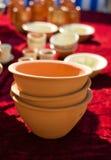 Plato de cerámica tres Imágenes de archivo libres de regalías