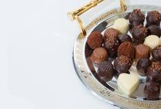 Plato de chocolates Fotos de archivo libres de regalías