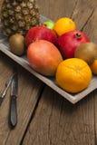 Plato de fruta Fotografía de archivo libre de regalías