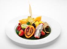 Plato de fruta exótico Imagen de archivo libre de regalías