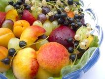 Plato de frutas Imagenes de archivo