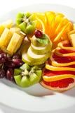 Plato de frutas foto de archivo libre de regalías