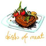 Plato de la carne Foto de archivo libre de regalías