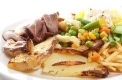 Plato de la carne de vaca de carne asada Fotografía de archivo