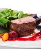 Plato de la carne de venado Fotos de archivo