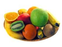 Plato de la fruta Imágenes de archivo libres de regalías