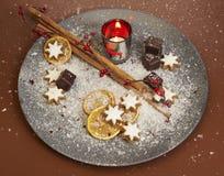 Plato de la Navidad Imagen de archivo