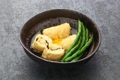 Plato de la piel del queso de soja, comida vegetariana japonesa imágenes de archivo libres de regalías