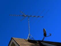 Plato de la transmisión vía satélite Imágenes de archivo libres de regalías