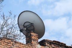 Plato de la TV vía satélite Fotografía de archivo libre de regalías