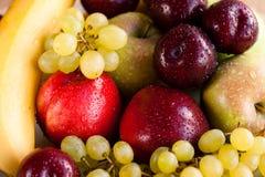Plato de la varia fruta Imágenes de archivo libres de regalías