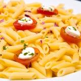 Plato de las pastas del tomate imágenes de archivo libres de regalías