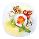 Plato de los quesos Foto de archivo
