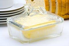 Plato de mantequilla Imagen de archivo libre de regalías