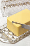 Plato de mantequilla Foto de archivo
