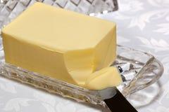 Plato de mantequilla Foto de archivo libre de regalías