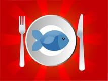 Plato de pescados Foto de archivo