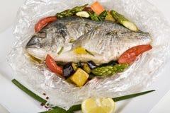 Plato de pescados caliente Imágenes de archivo libres de regalías
