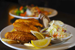Plato de pescados delicioso Foto de archivo libre de regalías
