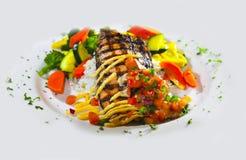 Plato de pescados delicioso Imagenes de archivo
