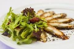 Plato de pescados para un banquete Imágenes de archivo libres de regalías