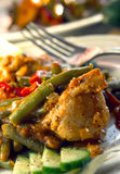 Plato de pollo Fotografía de archivo