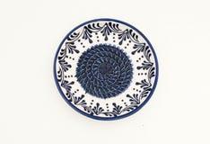 Plato de porción de cerámica Fotografía de archivo libre de regalías