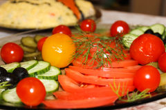 Plato de verduras Imagenes de archivo