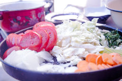 Plato de verduras Foto de archivo