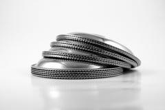 Plato del acero inoxidable Imágenes de archivo libres de regalías