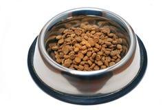 Plato del alimento de animal doméstico Imágenes de archivo libres de regalías