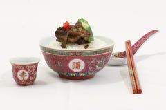 Plato del arroz Imágenes de archivo libres de regalías