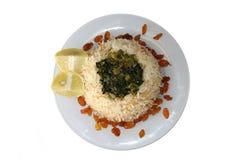 Plato del arroz de Vegeteraian Imagen de archivo libre de regalías