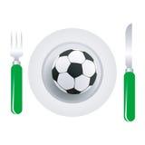 Plato del balón de fútbol Fotos de archivo libres de regalías